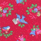 廃盤 レア品 ペーパーナプキン キャスキッドソン Cath Kidston CHRISTMAS BIRDS red バラ売り2枚1セット L-492810