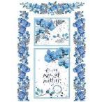 スタンペリア Stamperia イタリア デコパージュ用ライスペーパー Rice paper A4 Acquerello Violette azzurre DFSA4214