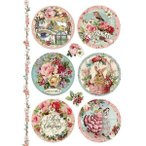 2018ǯ���� ������ڥꥢ Stamperia �����ꥢ �ǥ��ѡ������ѥ饤���ڡ��ѡ� Rice paper A4 DFSA4314 �ԥΥ��ꥹ�ޥ������ʥ��� Pink Christmas spheres