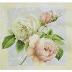 Home Fashion ドイツ ペーパーナプキン 薇 バラ コテージ・ローズ Cottage Rose 211237 バラ売り2枚1セット デコパージュ ドリパージュ