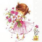 かわいいペーパーナプキン ドイツ製Little Princess 2枚 211271 デコパージュ ドリパージュ