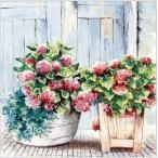 HOME FASHION ドイツ ペーパーナプキン Cottage Hydrangea 別荘に咲くアジサイ 211603 デコパージュ ドリパージュ