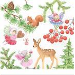 かわいいペーパーナプキン ドイツ製 Playful Fairies Winter 2枚 611420 デコパージュ ドリパージュ