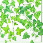ショッピングかわいい かわいいペーパーナプキン ドイツ製 Ivy Ornaments white アイビー 2枚 L-546190