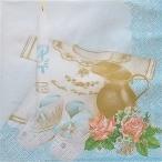 Maki ポーランド ペーパーナプキン 洗礼 Taufe blue バラ売り2枚1セット SLCH-000503 デコパージュ ドリパージュ