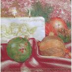 Maki ポーランド ペーパーナプキン nostalgia cream/red バラ売り2枚1セット SLGW-005801 デコパージュ ドリパージュ