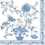 Maki ポーランド ペーパーナプキン white/blue pattern バラ売り2枚1セット SLOG-016401 デコパージュ ドリパージュ