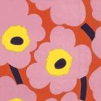 1枚バラ売りペーパーナプキンマリメッコ Marimekko ウニッコ UNIKKO rose orange 北欧 552657 ドリパージュ デコパージュ