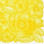 マリメッコ Marimekko ペーパーナプキン Kurjenpolvi yellow 2枚 北欧 L-553470 デコパージュ ドリパージュ