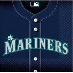 2枚1セット シアトルマリナーズ 野球 MLB 大リーグ アメリカ MADE IN USA ペーパーナプキン 紙ナフキン イチロー