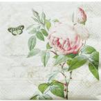 ショッピングイタリア イタリア Easy Life 旧NUOVA R2S社 ペーパーナプキン Lunch napkins 薔薇 ROSE BOTANICAL バラ売り2枚1セット 414-BACR デコパージュ ドリパージュ