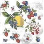 イタリア NUOVA R2S社ペーパーナプキン Secret Garden バラ売り2枚1セット 414-SEGR デコパージュ ドリパージュ
