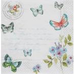 ショッピングイタリア イタリア NUOVA R2S社ペーパーナプキン Spring Butterfly バラ売り2枚1セット 414-SPBU デコパージュ ドリパージュ