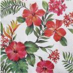 Paw ポーランド ペーパーナプキン ランチサイズ ハワイアンフラワー Hawaiian Flowers バラ売り2枚1セット SDL-090700 デコパージュ ドリパージュ