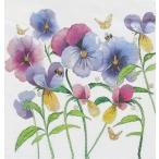 PPD ドイツ ペーパーナプキン Lunch napkins スミレ色のパンジー Violet Pansies バラ売り2枚1セット L-133-2380 デコパージュ ドリパージュ