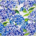 PPD ドイツ ペーパーナプキン Lunch napkins 紫陽花 あじさい アジサイ Blue Floral バラ売り2枚1セット L-133-2788 デコパージュ ドリパージュ