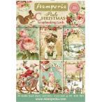 ������ڥꥢ Stamperia �����ꥢ ������åץ֥å����ѥڡ��ѡ� �����ɥ֥�å� 24������ �ԥ� ���ꥹ�ޥ� Pink Christmas SBBPC08