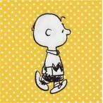 スヌーピー SNOOPY PEANUTS チャーリーブラウン 黄色のドット柄 2枚1セット ペーパーナプキン 33x33cm デコパージュ ドリパージュ