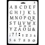 ���ƥ� �ץ졼�� �ǥ�����ץ졼�� ������� STENCIL PATTERN ����ե� �ڥ���� �ǥ��ѡ����� ����ե��٥å� ����饦�ȵ��� alphabet A003-2
