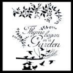 ステンシル ミニプレート デザインプレート モチーフ STENCIL PATTERN クラフト ペイント デコパージュ ワードステンシル エレガント Thyme Began In A Garden