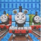 2枚セット/きかんしゃトーマス/THOMAS THE TANK/機関車トーマス/アメリカ製/MADE IN USA/ペーパーナプキン/紙ナフキン/33x33cm/2枚重ね