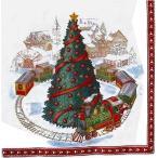 1枚バラ売りペーパーナプキン Villeroy&Boch ビレロイ&ボッホ ドイツ クリスマストレイン CHRISTMAS TRAIN IN TOWN 765300 デ..