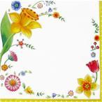 Villeroy&Boch ビレロイ&ボッホ ドイツ ペーパーナプキン SPRING FANTASY FLOWERS バラ売り2枚1セット L-786600 デコパージュ ..