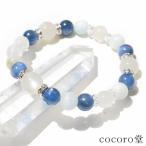パワーストーン ブレスレットムーンストーン カイヤナイト ブルーアラゴナイト 平珠水晶天然石 パワーストーン【ゆうパケット不可】