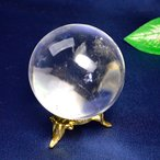 現品限り  パワーストーン レムリアン水晶 丸玉 置物47mm玉 重さ:約15...