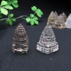 パワーストーン 置物 シュリヤントラ 水晶 スモーキークォーツ 天然石
