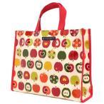 ショッピングプールバッグ 女の子 プールバッグ・ラミネートバッグ(スクエアタイプ) おしゃれリンゴのひみつ(アイボリー) (プールバッグ 子供 女 プールバッグ キッズ)