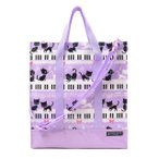 縦型レッスンバッグ・音楽バッグ ピアノの上で踊る黒猫ワルツ(ピンク)
