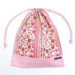 巾着 体操服袋 スカンジナビアのフラワーパーク(ピンク) × オックス・ピンク