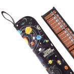 樹脂製 そろばんセット 太陽系惑星とコスモプラネタリウム(ブラック) (そろばんケース そろばん 樹脂製 そろばん 23桁)