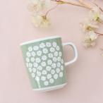 北欧/日本限定/グレーベージュ/花柄/コーヒーカップ/