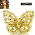 パヴェ ダイヤモンド バタフライ 蝶々 18金 リング マライア キャリー コレクション