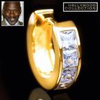 メンズ ピアス ダイヤモンド 24金 フープ 片耳 24KGP 16mm径 マイケル ジョーダン コレクション