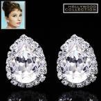 ピアス ダイヤモンド ティアドロップ セレブサイズ「ティファニーで朝食を」オードリー ヘップバーン コレクション