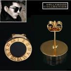ピアス ブラックダイヤモンド 黒ダイヤ メンズ スタッド ピアス 片耳用 ヴィンテージ ゴールド アダムランバート コレクション
