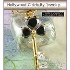 ネックレス ブラックダイヤモンド 18金 ハートキー ネックレス|ハリウッド セレブ コレクション