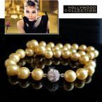 ネックレス 南洋 シェル パール 真珠 ネックレス 10mm径|ゴールドパール パヴェボール「ティファニーで朝食を」オードリー ヘップバーン コレクション