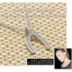 パヴェ ダイヤモンド ウイッシュボーン「願いが叶う」ネックレス|ケイト ハドソン コレクション