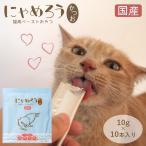 猫用 国産ペーストおやつ にゃめろう かつお味 (10g×10本)【4袋までネコポスで発送】