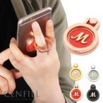 スマホリング  スワロフスキー イニシャル バンカーリング ジュエルリング スマホリング スマホ iphone かわいい プレゼント