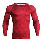 スポーツウェア スポーツシャツ 長袖 メンズ コンプレッションウェア 加圧シャツ トレーニング インナー 冷感
