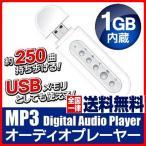 送料無料 デジタルオーディオプレーヤー MP3 USB メモリ 1GB