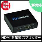 HDMI分配器 HDMIスプリッター 1入力2出力 1×2  フルハイビジョン 3D 対応 1.4ver  250g-20170615-C2236