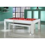 ビリヤード台 JBS ダイニングプールテーブル 03 -ホワイト- 7フィート 8フィート