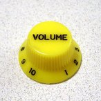 【メール便発送可!!】Montreux 《モントルー》 Strat Volume Knob Inch Yellow [商品番号 : 8795] ノブ