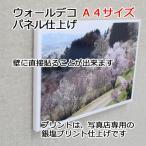 壁アルバム ウォールデコ A4サイズ フォトパネル仕上げ 壁に直接貼れる お客様の写真でつくる 写真プリント 展示用
